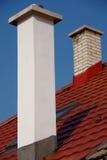 Печные трубы на крыше Стоковое Фото
