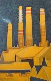 Печные трубы над центральным железнодорожным вокзалом Стоковое Фото