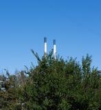 Печные трубы фабрики Стоковое Изображение