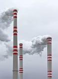 Печные трубы электростанции стоковое фото rf