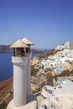 Печные трубы Santorini Стоковое Изображение RF
