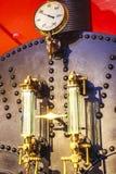 Печь угля двигателя моста башни стоковые фотографии rf