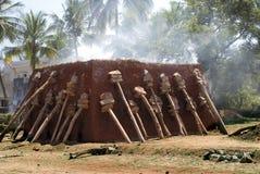 Печь для обжига кирпича грязи Стоковые Изображения