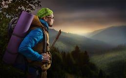 Пешая гора Стоковая Фотография RF