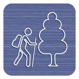 Пешая иллюстрация значка Стоковое Фото