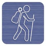 Пешая иллюстрация значка Стоковая Фотография RF