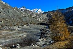 Пешая область Zermatt, Швейцария Стоковые Изображения RF