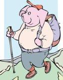 Пешая свинья иллюстрация вектора