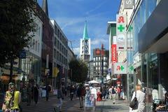 Пешеходная зона в Гельзенкирхене Стоковое Изображение