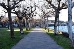 Пешеходная улица для прогулок Стоковое Изображение RF