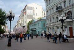 Пешеходная улица Arbat в Москве Стоковая Фотография