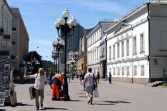 Пешеходная улица Arbat в Москве Стоковое Изображение RF