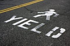 пешеходный выход дорожного знака Стоковая Фотография RF