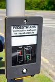 Пешеходный знак ожидания Стоковое фото RF
