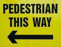 пешеходный знак Стоковые Фото