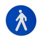 пешеходный знак стоковое изображение rf