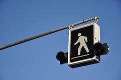 пешеходный знак Стоковые Изображения
