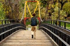 Пешеходный мост Стоковые Изображения RF