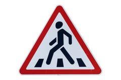 Пешеходный переход ` ` дорожного знака изолированного на белизне иллюстрация штока