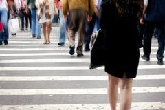 пешеходы nyc Стоковые Изображения RF