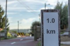 Пешеход и путь eco цикла, в Viseu, Португалия стоковые фото