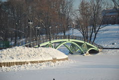 пешеход моста грациозно Стоковое Фото