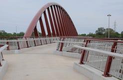 пешеход моста футуристический Стоковое Изображение
