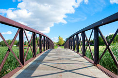 пешеход моста Стоковое фото RF