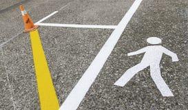 Пешеход на асфальте Стоковое Изображение