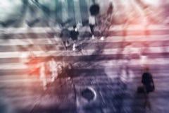 Пешеход на спешить зебры Стоковая Фотография RF