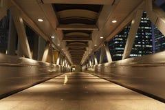 пешеход ночи моста Стоковые Изображения RF