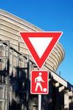 пешеход скрещивания Стоковое Фото