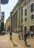 Пешеходная зона в историческом центре Лимы в Перу Стоковые Изображения