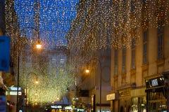 Пешеходная улица в вене стоковое фото rf