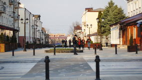 Пешеходная улица в Nalchik Стоковое Фото