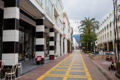 Пешеходная улица Kemer стоковое фото rf