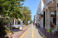 Пешеходная улица Kemer стоковая фотография rf