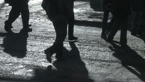 Пешеходные тени видеоматериал