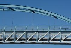 Пешеходный висячий мост Стоковые Фотографии RF