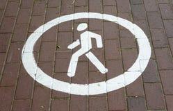Пешеходный знак магистрали парка обозначения майны Стоковые Фотографии RF