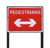 пешеходный знак Стоковые Изображения RF