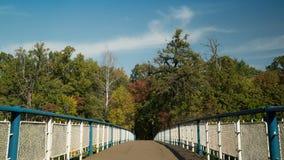 Пешеходный мост в промежутке времени greenwood видеоматериал