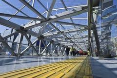 Пешеходный мост в торговом участоке Пекина Xidan Стоковые Изображения RF
