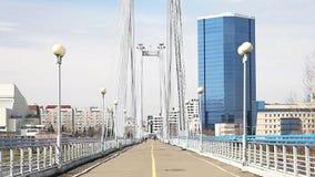 Пешеходный мост к острову акции видеоматериалы
