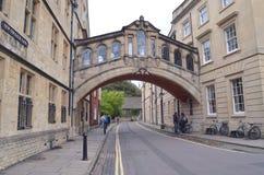 Пешеходный мост, Оксфордский университет, Великобритания, Том Wurl Стоковые Изображения