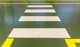Пешеходный переход зебры Стоковое Фото