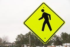 Пешеходный переход знака Стоковая Фотография RF