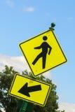 Пешеходный переход знака Стоковое Изображение