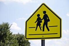 Пешеходный переход знака Стоковая Фотография