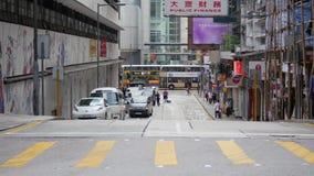 Пешеходный переход на желтой майне видеоматериал